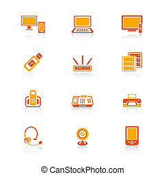 Office electronics icons   JUICY