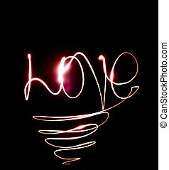the word love from the lights