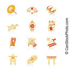 japansk, kultur, ikonen, |, saftig