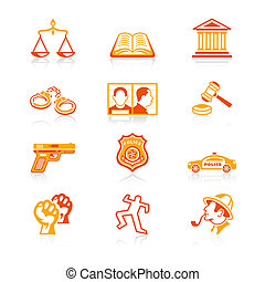 Law and order icons | JUICY series - Law and order contour...