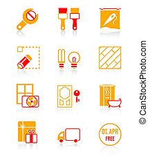 Home repair icons | JUICY series - Home repair, remodeling,...