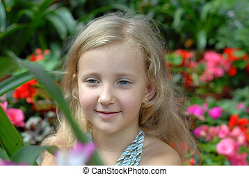child girl portrait blonde