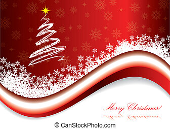 Red christmas holiday greeting card
