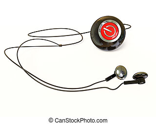mp3 player on white background