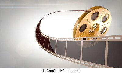 Cinema Background Golden - Abstract Background. Great for...