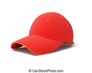 red cap on white background
