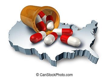 norteamericano, Medicina