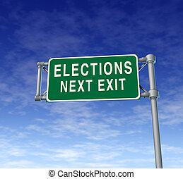 elections and voting - Elections and voting traffic sign...