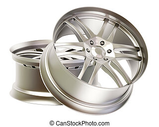 rims - aluminum rims on isolated background