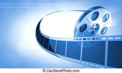 Cinema Background Blue - Abstract Background Great for...