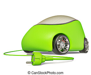 car - Beautiful little car is isolated on a white background