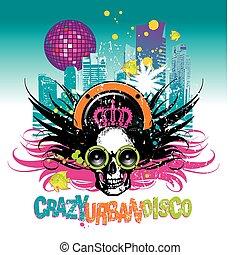 Crazy urban disco