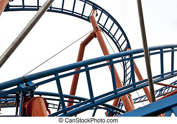 Rollercoaster - A roller coaster at a fair or carnival