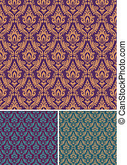 Damask vector seamless pattern