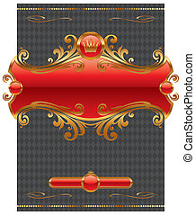 Vector design with ornate golden frame