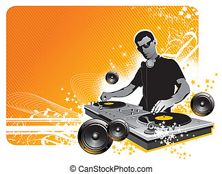 Vector illustration  - DJ
