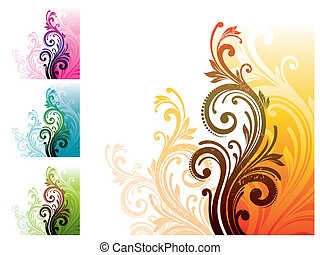 Floral decorative vector ornament