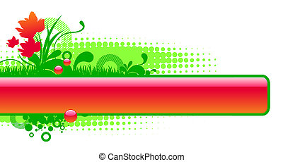 Floral glossy vector frame