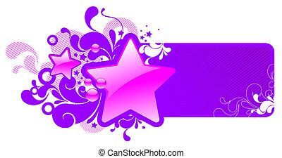 Vector frame with glossy stars