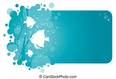 Vector frame with aqua design