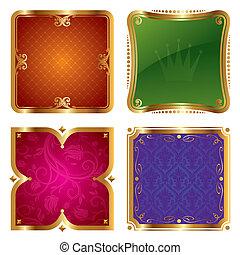 Golden vector ornate frames