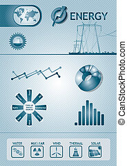 Infographic energy chart - abstract template design