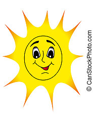 merry nice sun shines with smile