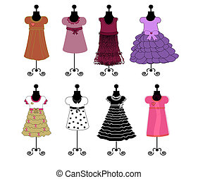 dresses illustration vector - dresses illustration