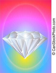 brilliant precious diamond on bright background