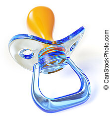 pacifier - Baby silicone pacifier isolated on white...