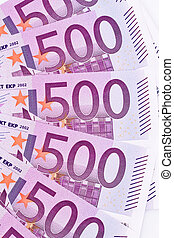 close up of a euro banknote