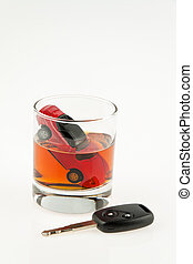 alcohol and car.