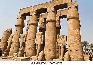 egypt, luxor amun temple of luxor. - africa, egypt, luxor...