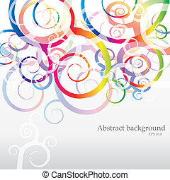 VECTOR Abstract Rainbow Background for Business Brochure or...