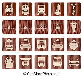 transportation icon set - Transportation set of different...