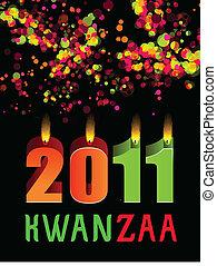 Kwanzaa(156).jpg - Kwanzaa candles lightning on the black...