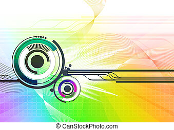 High-tech futuristic abstract background