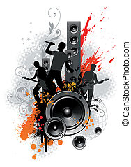Vector illustration with rock band