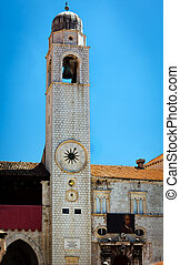 Bell Tower, Dubrovnik (Ragusa). - The big bell tower on main...