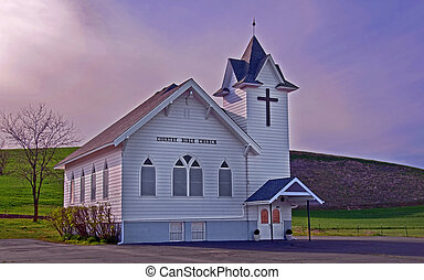 Classic White Country Church - This classic white country...