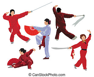 Tai-chi woman collection