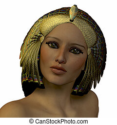 Egyptian Woman - The ancient Egyptian female wore beautiful...