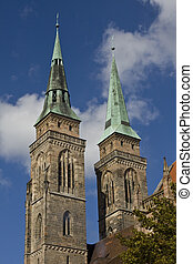 St Sebaldus Church - Towers of St Sebaldus Church in...