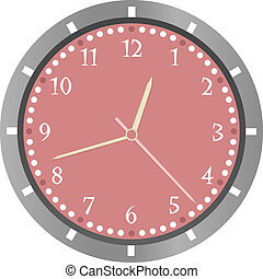wall clock vector isolated on white