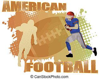American football poster background, vector illustration