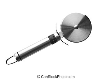 Pizza cutter - Pizza or pasta cutter on white background