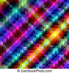Bright Background - Bright Mosaic Background, Vector...
