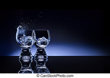 Opposites attract! - A picture of two shaped transparent...