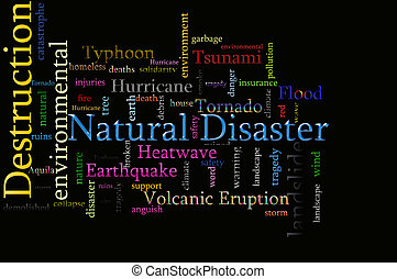 Word cloud concept illustration of Natural Disaster