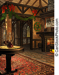 The Xmas Inn - a festively decorated room in the advent...